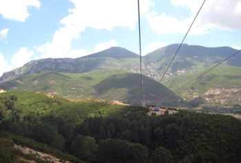 Dajti Express cable car to Mount Dajti