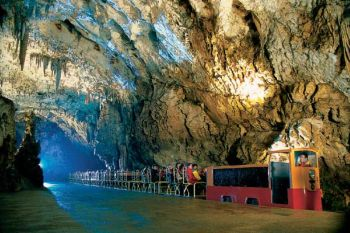 The train in Postojna cave